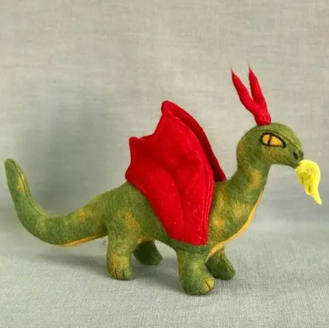 Felted Wool Dragon | Green