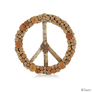 Layered Peace Wreath
