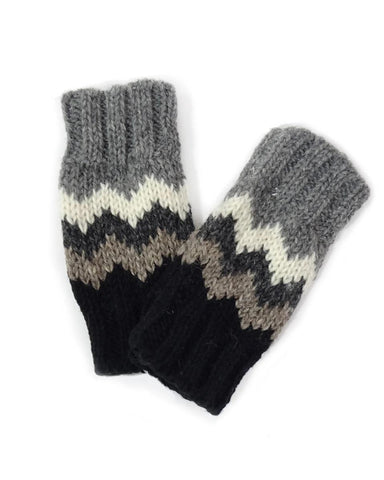 Zig Zag Fingerless Gloves | 4 Colors