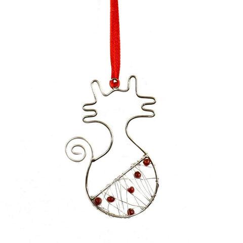 Beaded Ornament | Cat