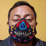 Embroidered Day of the Dead Duckbill Face Mask