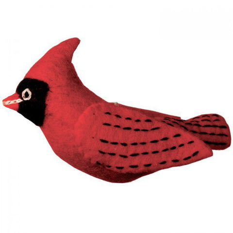 Woolie Bird Ornament | Cardinal