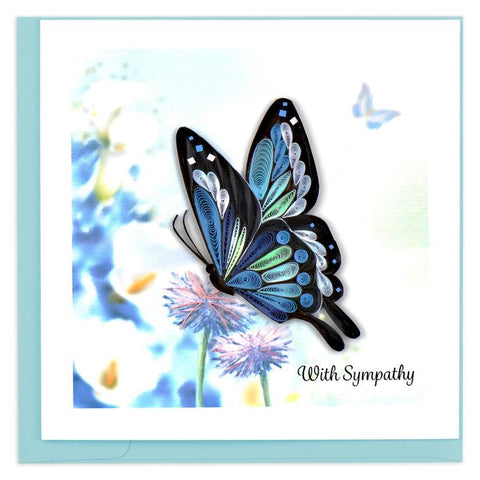Sympathy Butterfly Quilling Card