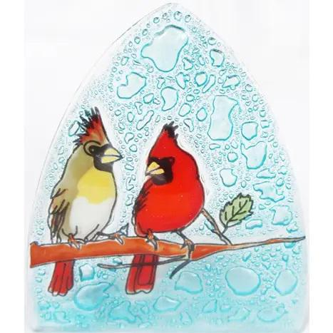 Recycled Glass Night Light | Cardinal Couple