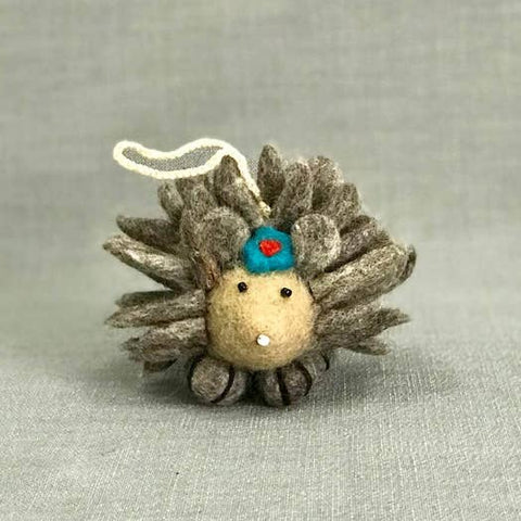 Felted Wood Hedgehog | Grey