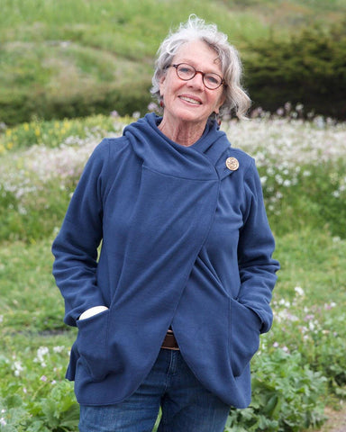 Country Fleece Wrap Jacket | Blue | 4 Sizes