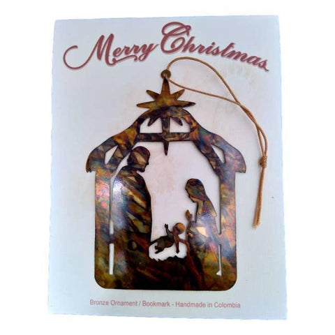 Ornament Card | Nativity Manger