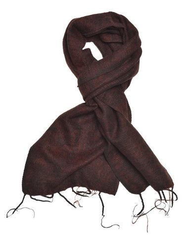Brushed Woven Scarf | Coffee