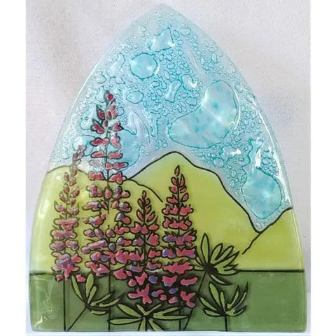 Recycled Glass Night Light | Lupine Flowers