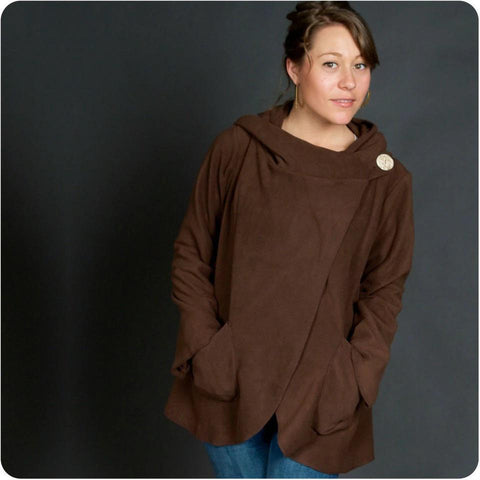 Country Fleece Wrap Jacket | Brown | 4 Sizes