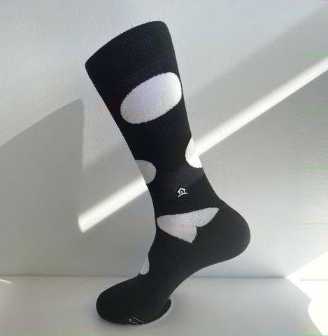 Socks That Build Homes | Black w/ White Dot