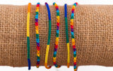 Rainbow Round Silk Friendship Bracelet