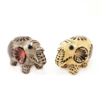 Salt & Pepper Shaker Set | Ceramic Elephant