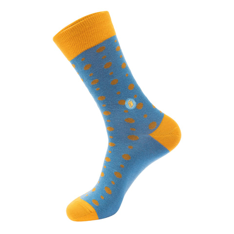 Socks That Give Books | Light Blue Dots