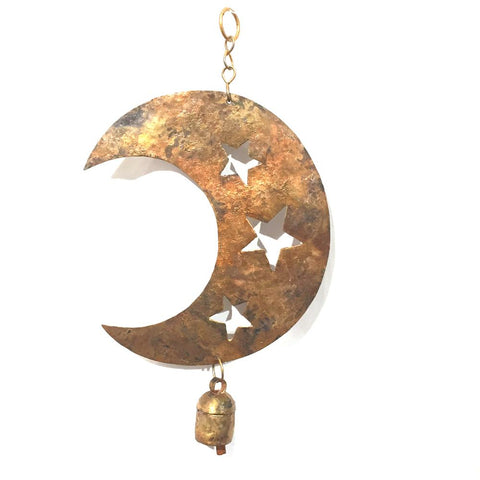 Metal Chime | Star Cut Moon