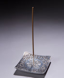 Aluminum Incense Holder | Square Patterned