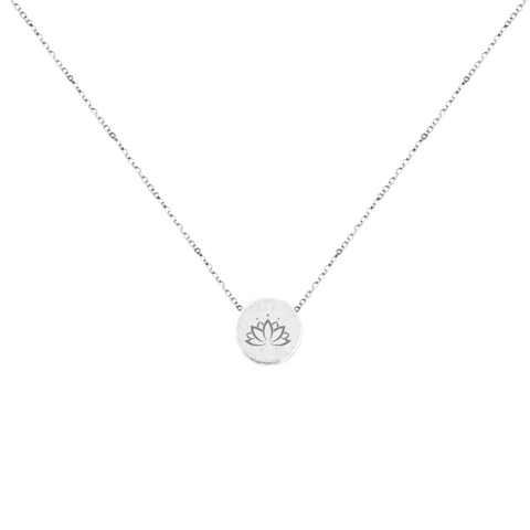 Mantra Necklace Lotus Flower