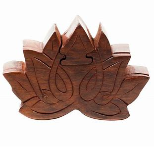 Wooden Puzzle Box | Lotus