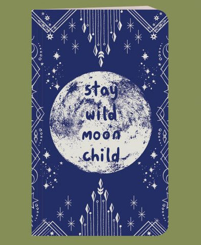 Recycled Bright Notebook | Stay Wild Moon Child