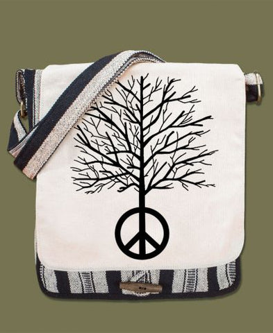 Canvas Messenger Bag | Peace Tree
