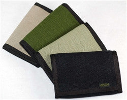 Hemp Eight Compartment Tri-fold Wallet