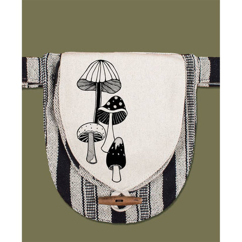 Canvas Hip Bag | Mushrooms