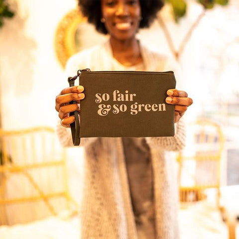 Statement Wristlet Pouch | So Fair & So Green