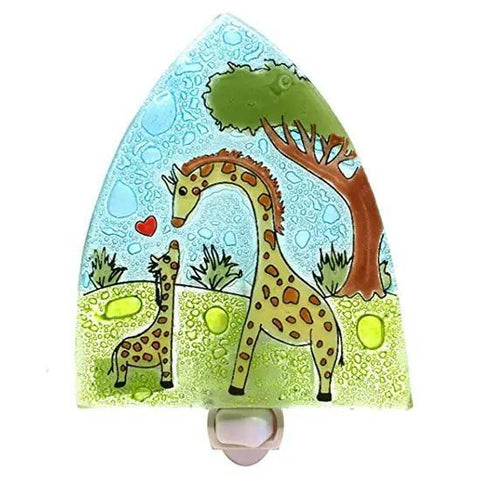 Recycled Glass Night Light  | Giraffes