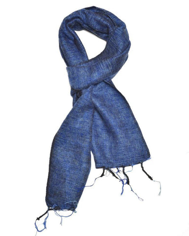 Brushed Woven Scarf | Azure