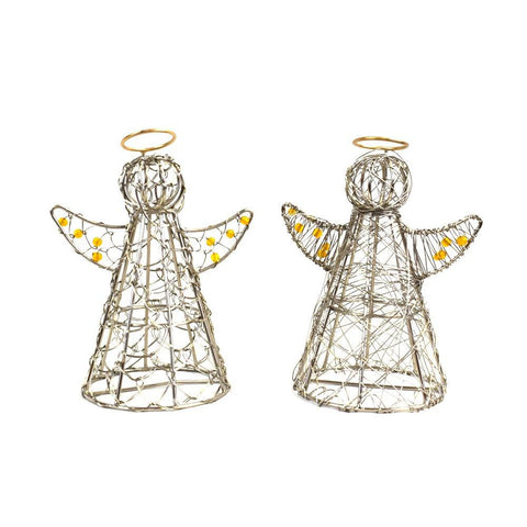 Wrapped Wire Gold Halo Angel