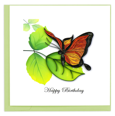 Birthday Butterfly Quilling Card
