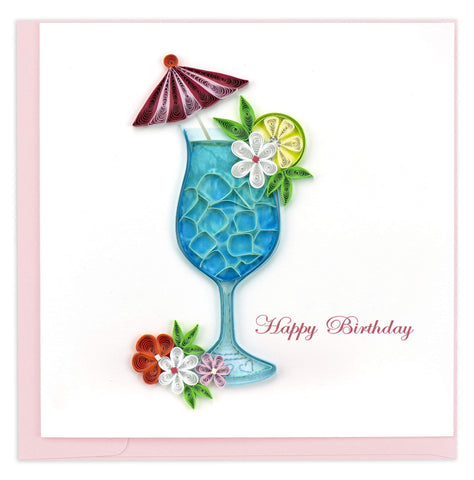 Birthday Drink Quilling Card