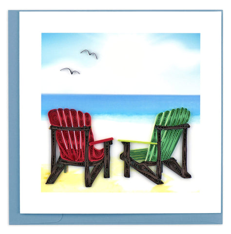 Adirondack Chairs Quilling Card