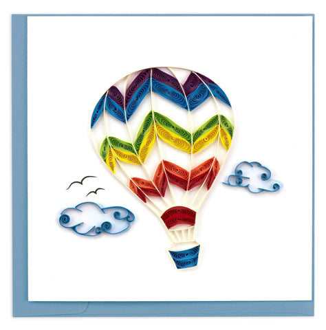 Hot Air Balloon Quilling Card