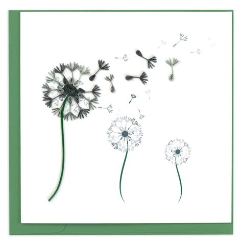 Dandelion Quilling Card