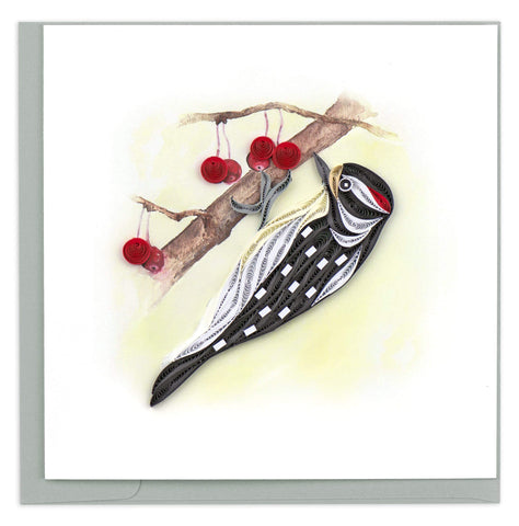 Downy Woodpecker Quilling Card