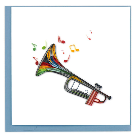 Trumpet Quilling Card