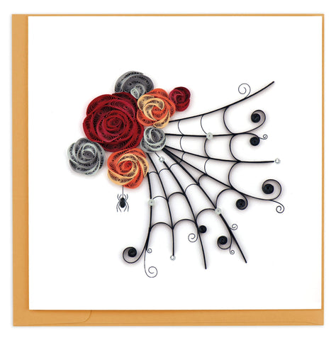Spider's Web Quilling Card