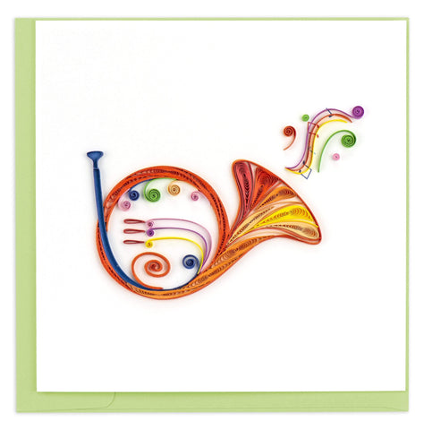 French Horn Quilling Card