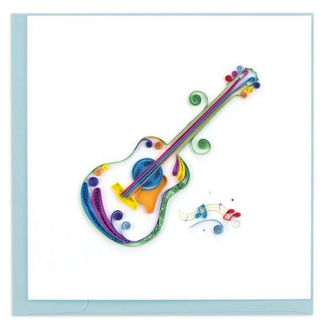Acoustic Guitar Quilling Card