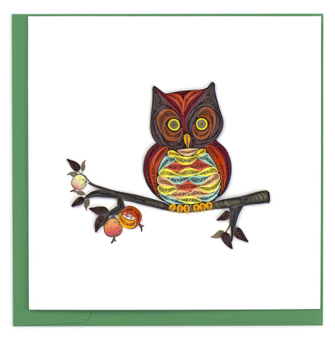 Colorful Owl Quilling Card
