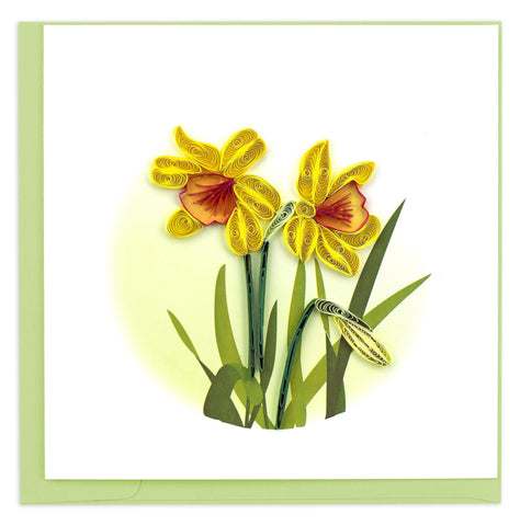 Daffodil Quilling Card