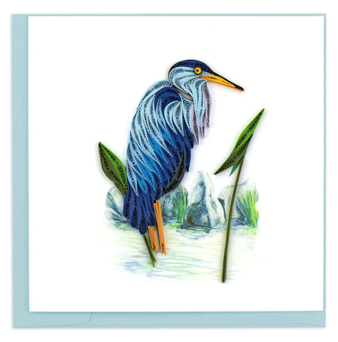 Blue Heron Quilling Card