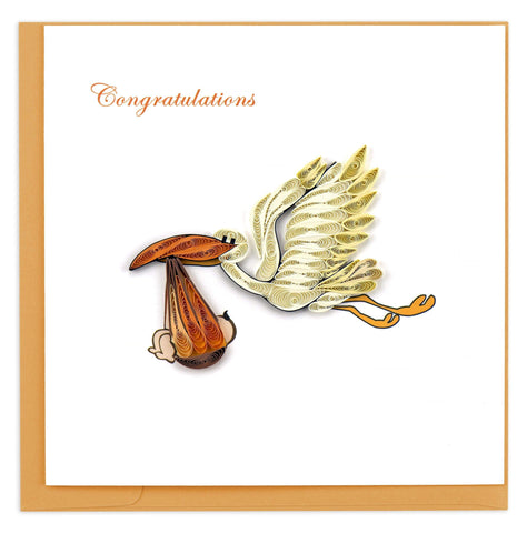 Stork Delivery Quilling Card