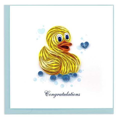 Rubber Ducky Quilling Card