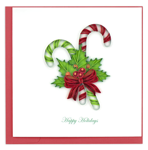 Candy Canes Quilling Card