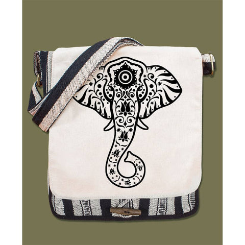 Canvas Messenger Bag | Elephant Vibes