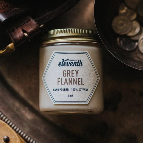 Soy Wax Candle | Grey Flannel