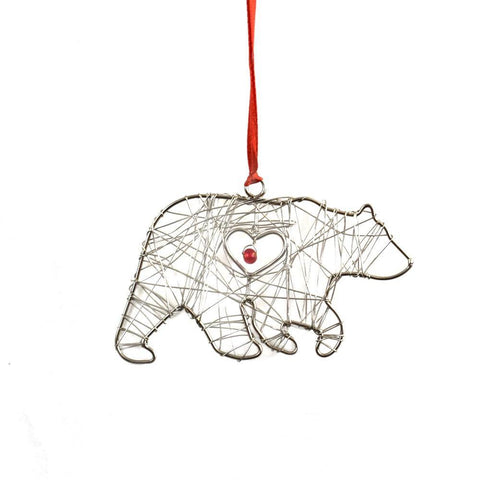Wire Wrapped Ornament | Bear