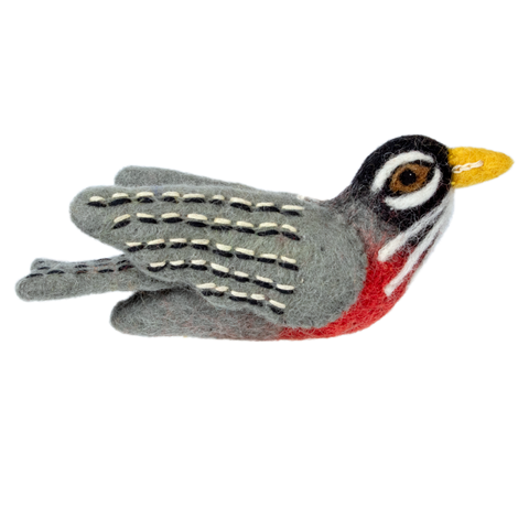 Woolie Bird Ornament | Red Robin